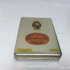 Cajas de Puros: CAJA DE PUROS METALICA ROMEO Y JULIETA Y PURO DAVIDOFF. Lote 186170470