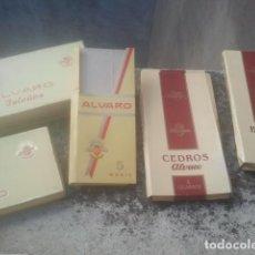 Cajas de Puros: CIGARROS PUROS ÁLVARO - LOTAZO DE CAJAS ANTIGUAS - ISLEÑOS 10, CEDROS, BREVAS ... MUY DIFÍCILES. Lote 186407546