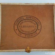 Cajas de Puros: ANTIGUA CAJA DE CIGARROS. COMPAÑIA ARRENDATARIA DE TABACOS. ELEGANTES. LA HABANA, CUBA. W. Lote 186420591