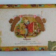 Cajas de Puros: ANTIGUA CAJA DE CIGARROS. ROMEO Y JULIETA. LA HABANA, CUBA. W. Lote 186420761