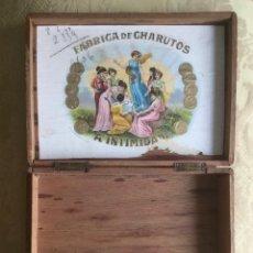 Cajas de Puros: ANTIGUA CAJA DE PUROS FABRICA DE CHARUTOS A' INTIMIDADES FERREIRA Y CÍA RIO, BRASIL. Lote 187116643
