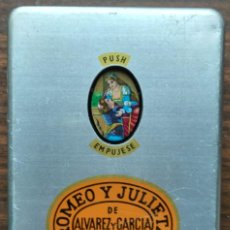 Cajas de Puros: CAJA METALICA DE PUROS DE LA MARCA HABANA: ROMEO Y JULIETA DE ALVAREZ Y GARCIA. VACIA. Lote 187156081