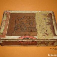 Cajas de Puros: ANTIGUA CAJA DE PUROS HABANOS FLOR EXTRAFINA LA ELECCION DE FERRERIA HERMANOS HABANA 1870S.. Lote 187209860