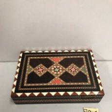 Cajas de Puros: CAJA DE PUROS & CIGARRILLOS MADERA MARQUETERÍA. Lote 187547085