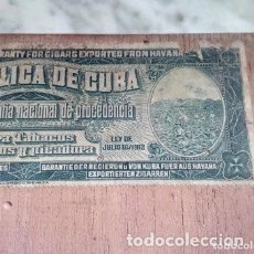 Cajas de Puros: CAJA PUROS TROYA, CUBA, 1930'S. Lote 188588548