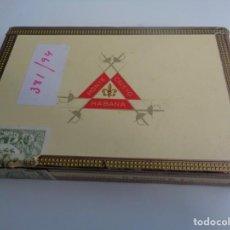 Cajas de Puros: ANTIGUA CAJA DE PUROS MONTECRISTO Nº 4 25 PUROS CABINET SELECTION - CON 20 PUROS DE LA HABANA -CUBA. Lote 188733786