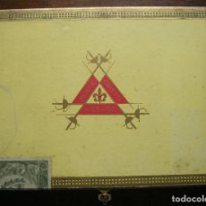 Cajas de Puros: CAJA VACIA PUROS MONTECRISTO 10 TUBOS (CUBA). Lote 189878170