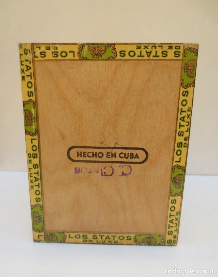 Cajas de Puros: CAJA DE PUROS - LOS STATOS DE LUXE - HABANA , CUBA - 100 DELIRIOS PETACAS - VACIA. - Foto 6 - 190078785