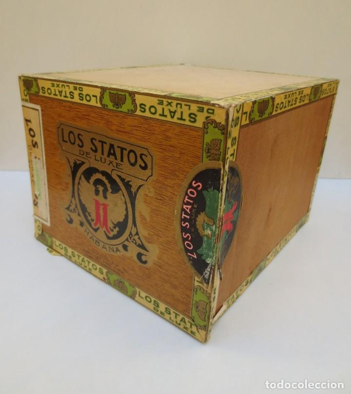 Cajas de Puros: CAJA DE PUROS - LOS STATOS DE LUXE - HABANA , CUBA - 100 DELIRIOS PETACAS - VACIA. - Foto 5 - 190078785
