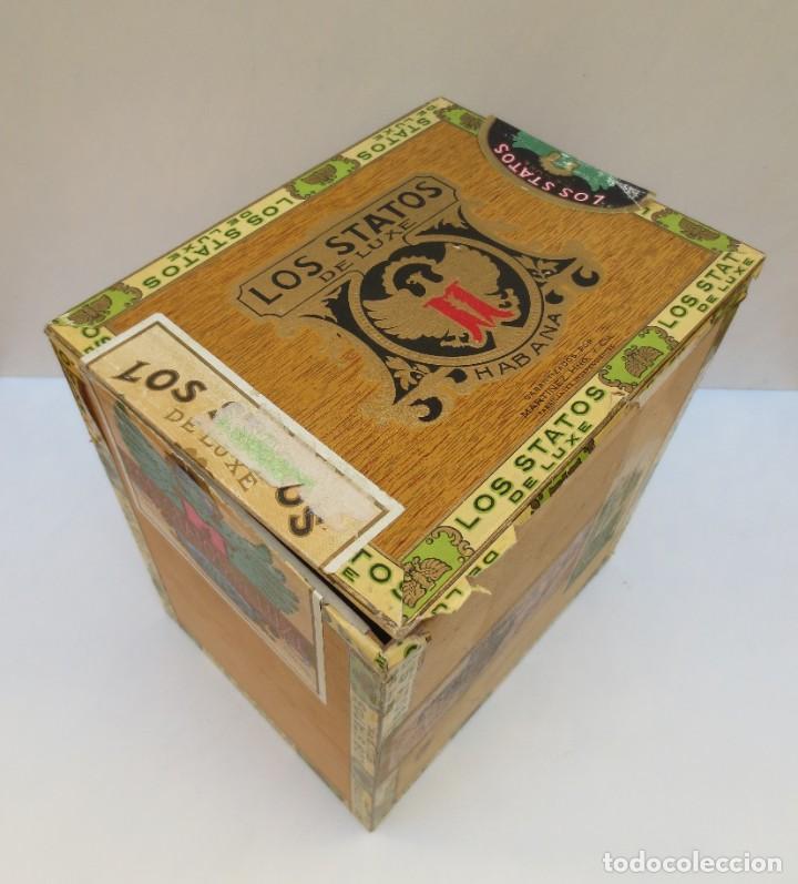 CAJA DE PUROS - LOS STATOS DE LUXE - HABANA , CUBA - 100 DELIRIOS PETACAS - VACIA. (Coleccionismo - Objetos para Fumar - Cajas de Puros)