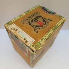 Cajas de Puros: CAJA DE PUROS - LOS STATOS DE LUXE - HABANA , CUBA - 100 DELIRIOS PETACAS - VACIA.. Lote 190078785
