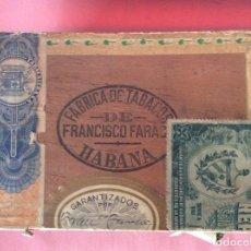 Caixas de Charutos: CAJA PUROS VACÍA. ANTIGUA. FRANCISCO FARACH. FLOR. JOYAS. MANUEL PEÑA. RANCHUELO. CUBA.. Lote 190166443