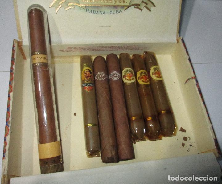 Cajas de Puros: caja de puros TROYA, MARTINEZ Y CIA, HABANA, CUBA, con varios puros MONTECRISTO, ALVARO,... - Foto 2 - 136193440