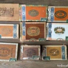 Cajas de Puros: NUEVE CAJAS DE PUROS. Lote 190325921
