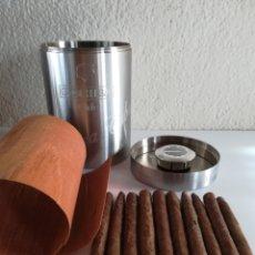 Cajas de Puros: CAJA BOTE ACERO INOXIDABLE HUMIDOR COHIBA CLUB HABANA CUBA - 10 PUROS HABANOS. Lote 190345273