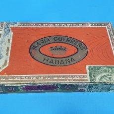 Cajas de Puros: ANTIGUA CAJA DE PUROS VACIA MARÍA GUERRERO HABANA. Lote 190421418