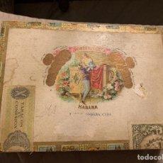 Cajas de Puros: CAJA DE HABANOS ROMEO Y JULIETA. 10 ROMEO. VACÍA. Lote 190549003
