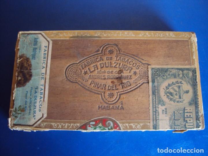 (TA-200103)CAJA FABRICA DE TABACOS LA DULZURA DE ANDRES RODRIGUEZ - PINAR DEL RIO - HABANA (Coleccionismo - Objetos para Fumar - Cajas de Puros)