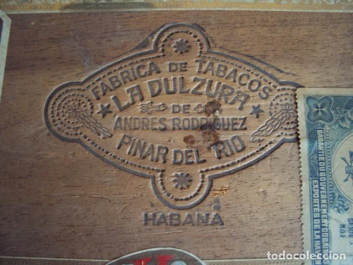 Cajas de Puros: (TA-200103)CAJA FABRICA DE TABACOS LA DULZURA DE ANDRES RODRIGUEZ - PINAR DEL RIO - HABANA - Foto 2 - 190709632