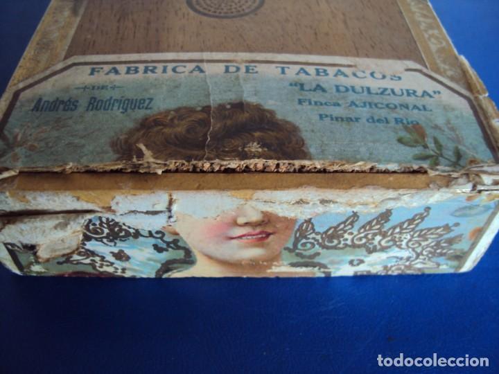 Cajas de Puros: (TA-200103)CAJA FABRICA DE TABACOS LA DULZURA DE ANDRES RODRIGUEZ - PINAR DEL RIO - HABANA - Foto 4 - 190709632