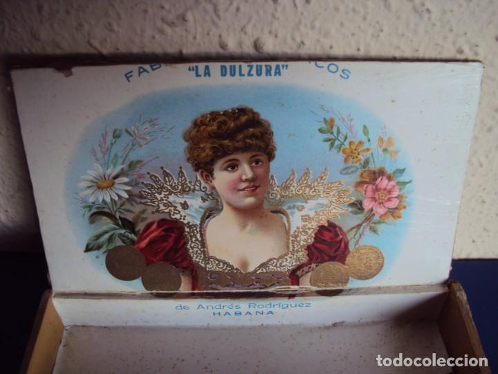Cajas de Puros: (TA-200103)CAJA FABRICA DE TABACOS LA DULZURA DE ANDRES RODRIGUEZ - PINAR DEL RIO - HABANA - Foto 5 - 190709632
