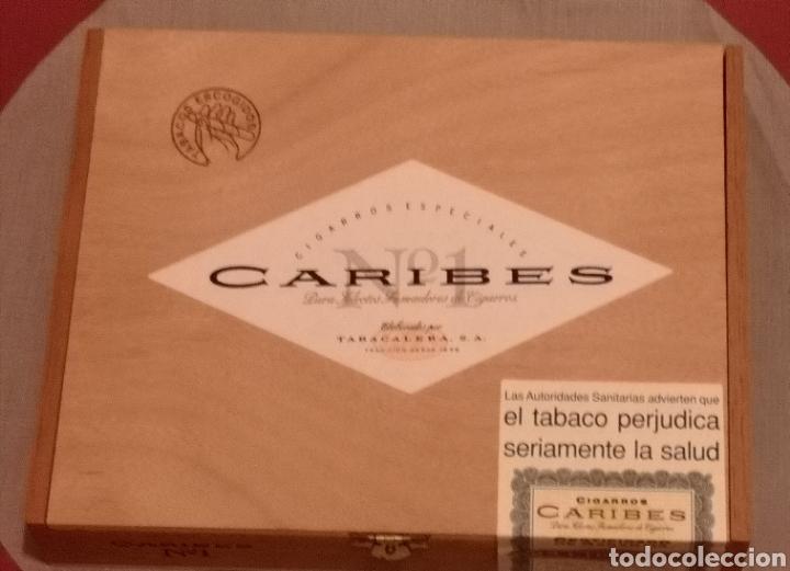 CAJA DE PUROS SIN ABRIR!! 25 PUROS CARIBES N°1 (Coleccionismo - Objetos para Fumar - Cajas de Puros)