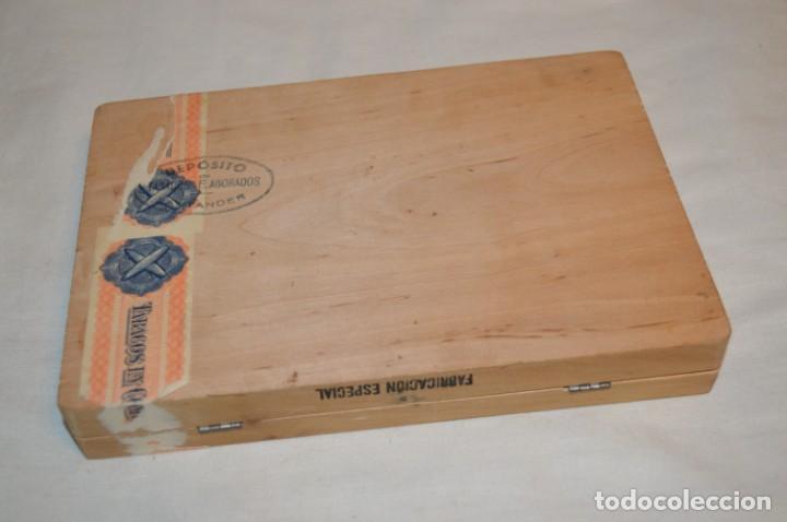 Cajas de Puros: ANTIGUA CAJA DE PUROS / La GARANTIA 25 Petit-Cetros 25 / - EN MADERA - PRECIOSA - ¡Mira! - Foto 3 - 191196766