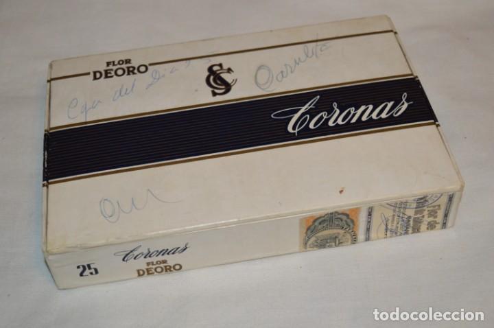 ANTIGUA CAJA DE PUROS / FLOR DEORO - 25 CORONAS / - EN MADERA Y CARTÓN - PRECIOSA - ¡MIRA! (Coleccionismo - Objetos para Fumar - Cajas de Puros)