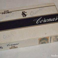 Cajas de Puros: ANTIGUA CAJA DE PUROS / FLOR DEORO - 25 CORONAS / - EN MADERA Y CARTÓN - PRECIOSA - ¡MIRA!. Lote 191197822