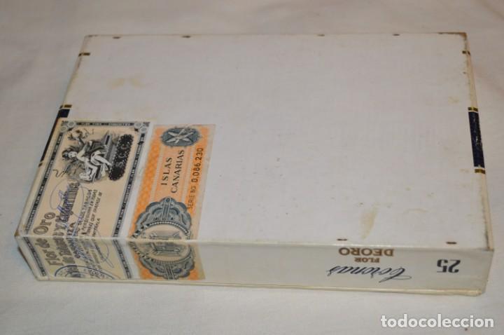 Cajas de Puros: ANTIGUA CAJA DE PUROS / FLOR DEORO - 25 Coronas / - EN MADERA y CARTÓN - PRECIOSA - ¡Mira! - Foto 2 - 191197822