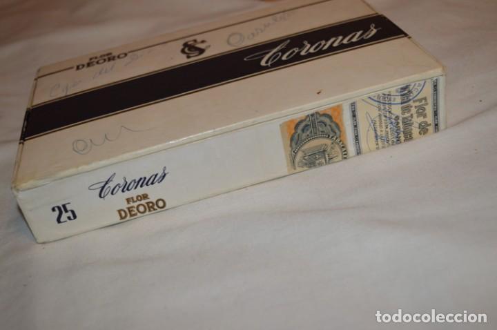 Cajas de Puros: ANTIGUA CAJA DE PUROS / FLOR DEORO - 25 Coronas / - EN MADERA y CARTÓN - PRECIOSA - ¡Mira! - Foto 6 - 191197822