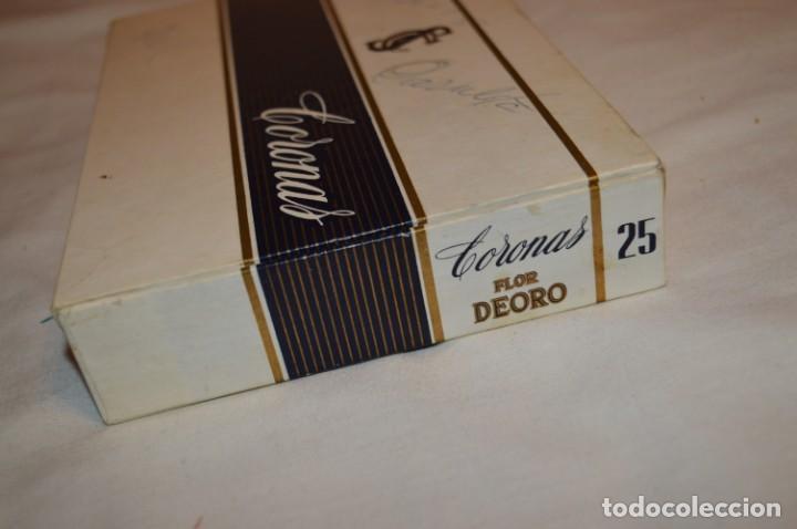 Cajas de Puros: ANTIGUA CAJA DE PUROS / FLOR DEORO - 25 Coronas / - EN MADERA y CARTÓN - PRECIOSA - ¡Mira! - Foto 7 - 191197822