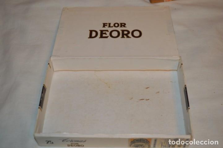 Cajas de Puros: ANTIGUA CAJA DE PUROS / FLOR DEORO - 25 Coronas / - EN MADERA y CARTÓN - PRECIOSA - ¡Mira! - Foto 8 - 191197822