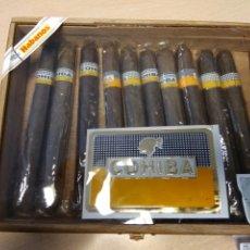 Cajas de Puros: CAJA PUROS HABANOS COHIBA 25 ESPLENDIDOS- CONTIENE 10 DE 25 PUROS. Lote 191263928
