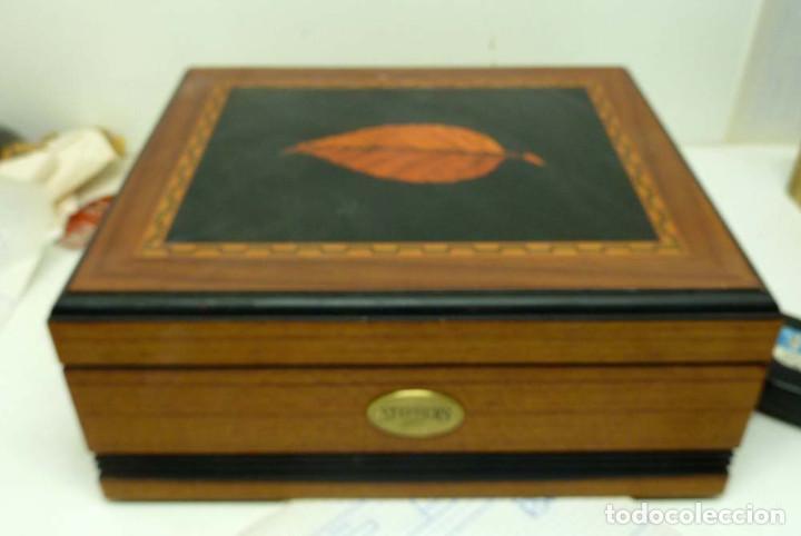 CAJA HUMIFICADOR DE PUROS STEPHENS (Coleccionismo - Objetos para Fumar - Cajas de Puros)