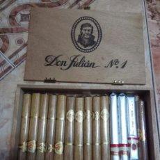 Cajas de Puros: CAJA DE PUROS DON JULIÁN PUROS ÁLVARO. Lote 191379422