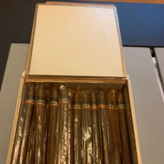 Cajas de Puros: COHIBA LANCEROS. CAJA CON 19 PUROS HABANOS. GUARDADOS EN HUMIDOR. Lote 191496057