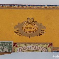 Cajas de Puros: CAJA DE PUROS FLOR DE TABACOS DE PARTAGAS. LA HABANA CUBA. Lote 191521810