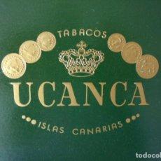 Cajas de Puros: CAJA DE PUROS VACÍA MARCA UCANCA ISLAS CANARIAS (DESPERFECTOS: VER DESCRIPCIÓN). Lote 191659835