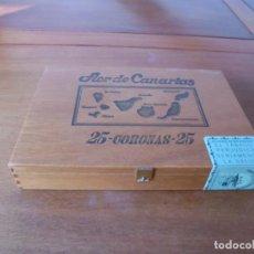 Cajas de Puros: CAJA DE PUROS VACÍA. 25 CORONAS. FLOR DE CANARIAS.. Lote 191660247