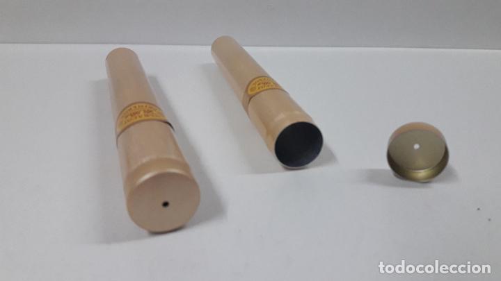 Cajas de Puros: OCHO TUBOS DE ALUMINIO PARA PUROS . VITOLA PEGADA TABACOS LA PAZ . SIN CONTENIDO - Foto 6 - 192244506