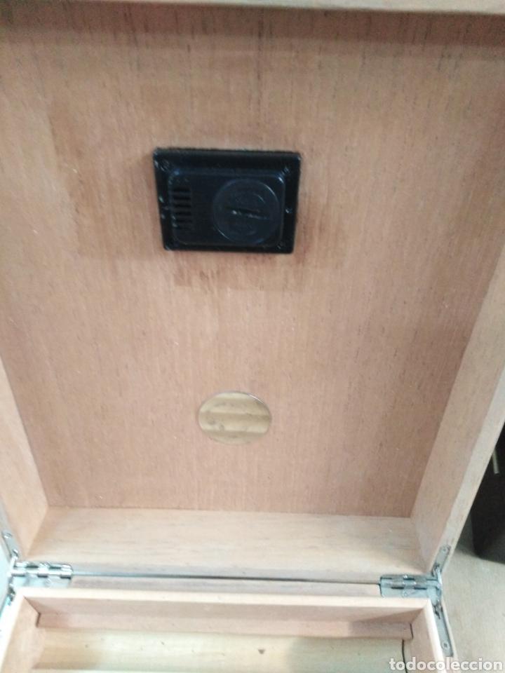 Cajas de Puros: Humificador Caja de puros lacada en negro - Foto 2 - 192320386