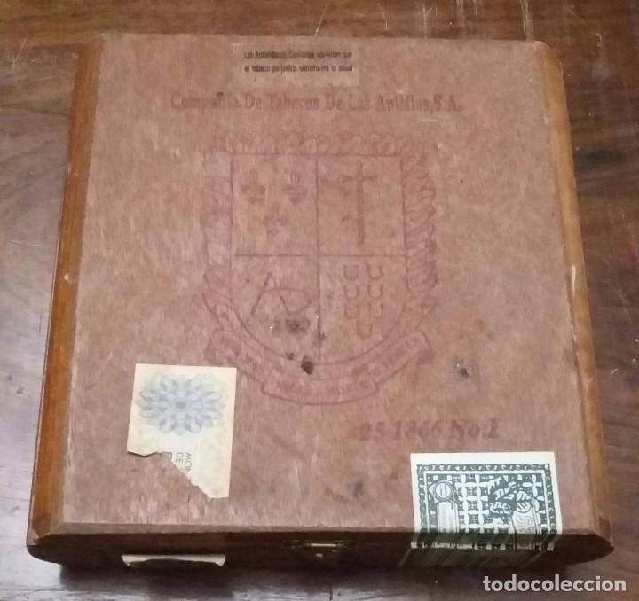 Cajas de Puros: CAJA DE PUROS DE MADERA. COMPAÑIA DE TABACOS DE LAS ANTILLAS,S.A. VACIA. - Foto 2 - 193176736