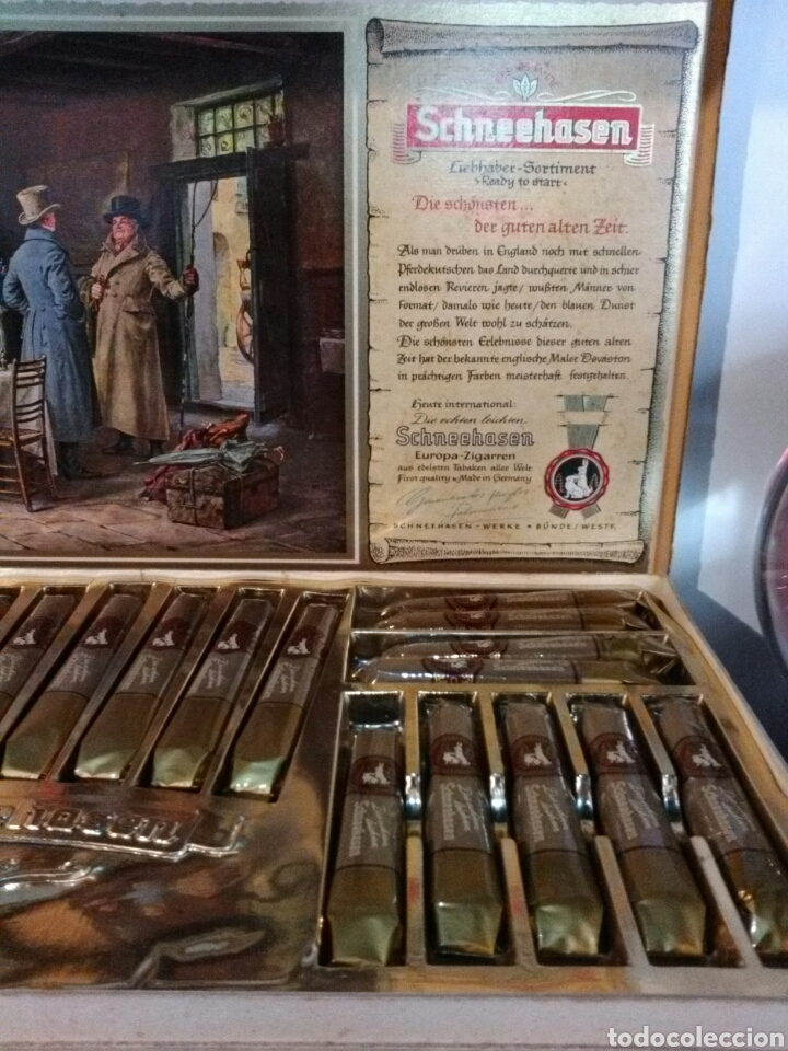 Cajas de Puros: SCHNEENASEN EUROPA ZIGARREN. FRIST QUALITY*MADE IN GERMANY. - Foto 4 - 193226253