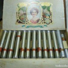 Cajas de Puros: CAJA DE PUROS TENISCA, 25 PUROS GRANDIOSOS, CIGARRILLOS DE LUJO . Lote 193661421