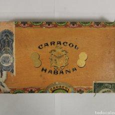 Cajas de Puros: CAJA DE PUROS VINTAGE CUBAN CIGAR BOX CARACOL CARAMELOS. Lote 193918151