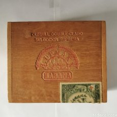 Cajas de Puros: CAJA DE PUROS VINTAGE CUBAN CIGAR BOX H.UMPMANN DUNHILL. Lote 193965003