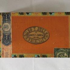 Cajas de Puros: CAJA DE PUROS VINTAGE CUBAN CIGAR BOX ROMEO Y JULIETA AGUILAS. Lote 193965127