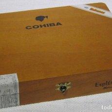 Cajas de Puros: CAJA COHIBA ESPLÉNDIDOS, CON 15 PUROS. . Lote 194196100