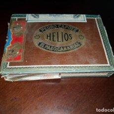 Cajas de Puros: CAJA DE PUROS VACÍA - HELIOS - PEDRO CAPOTE - EL PASO - CANARIAS. Lote 194196856